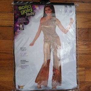 SOLID GOLD DISCO LADY COSTUME
